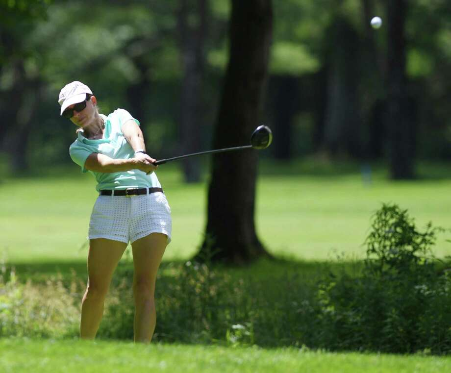 Anne-Laure Coby plays in the Greenwich Women's Town Wide Golf Tournament at Griffith E. Harris Golf Course in Greenwich, Conn. Monday, June 24, 2019. Anne-Laure Coby defended her town wide championship by shooting a 79. Photo: Tyler Sizemore / Hearst Connecticut Media / Greenwich Time
