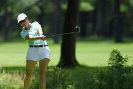 Anne-Laure Coby plays in the Greenwich Women's Town Wide Golf Tournament at Griffith E. Harris Golf Course in Greenwich, Conn. Monday, June 24, 2019. Anne-Laure Coby defended her town wide championship by shooting a 79.