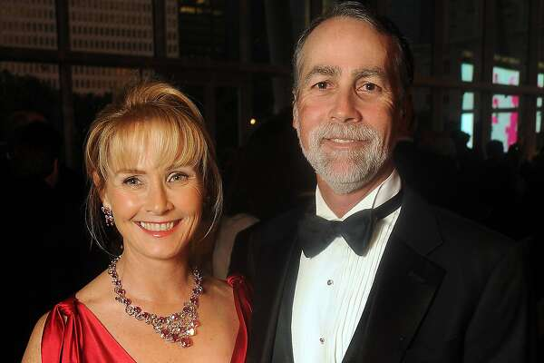 Randa Williams and her husband Charlie at the TUTS gala at the Hobby Center Friday April 20,2012. (Dave Rossman Photo)