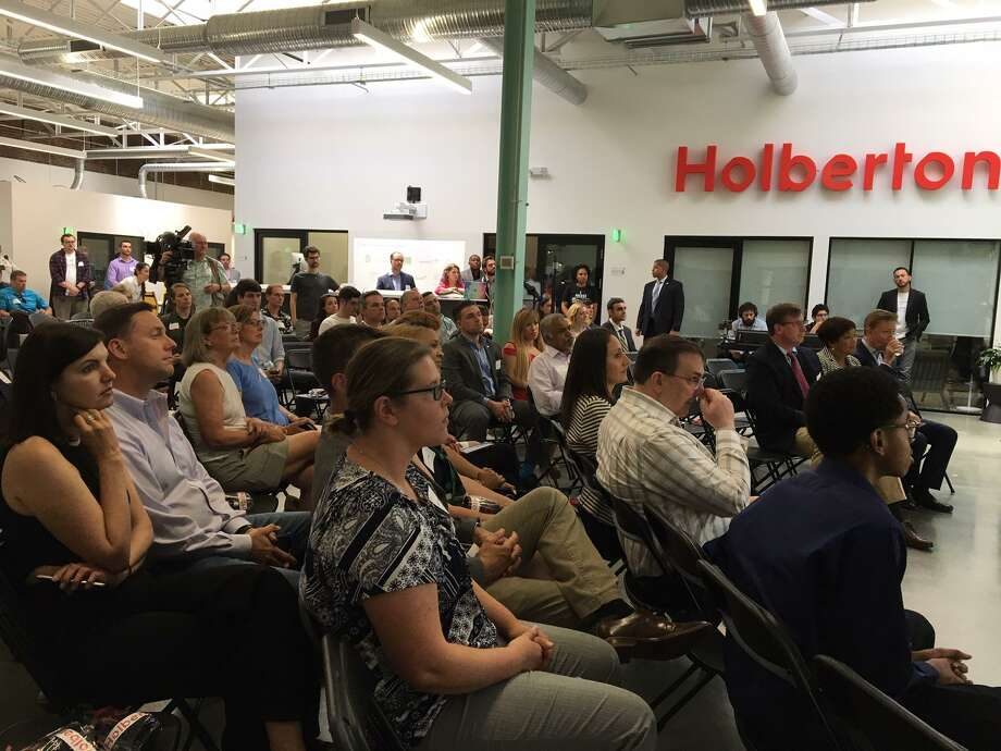 Crowd at Holberton NHV grand opening Photo: Mary E. O'Leary/Hearst Connecticut Media