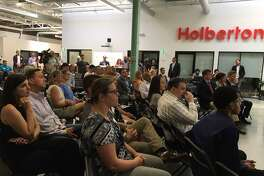 Crowd at Holberton NHV grand opening