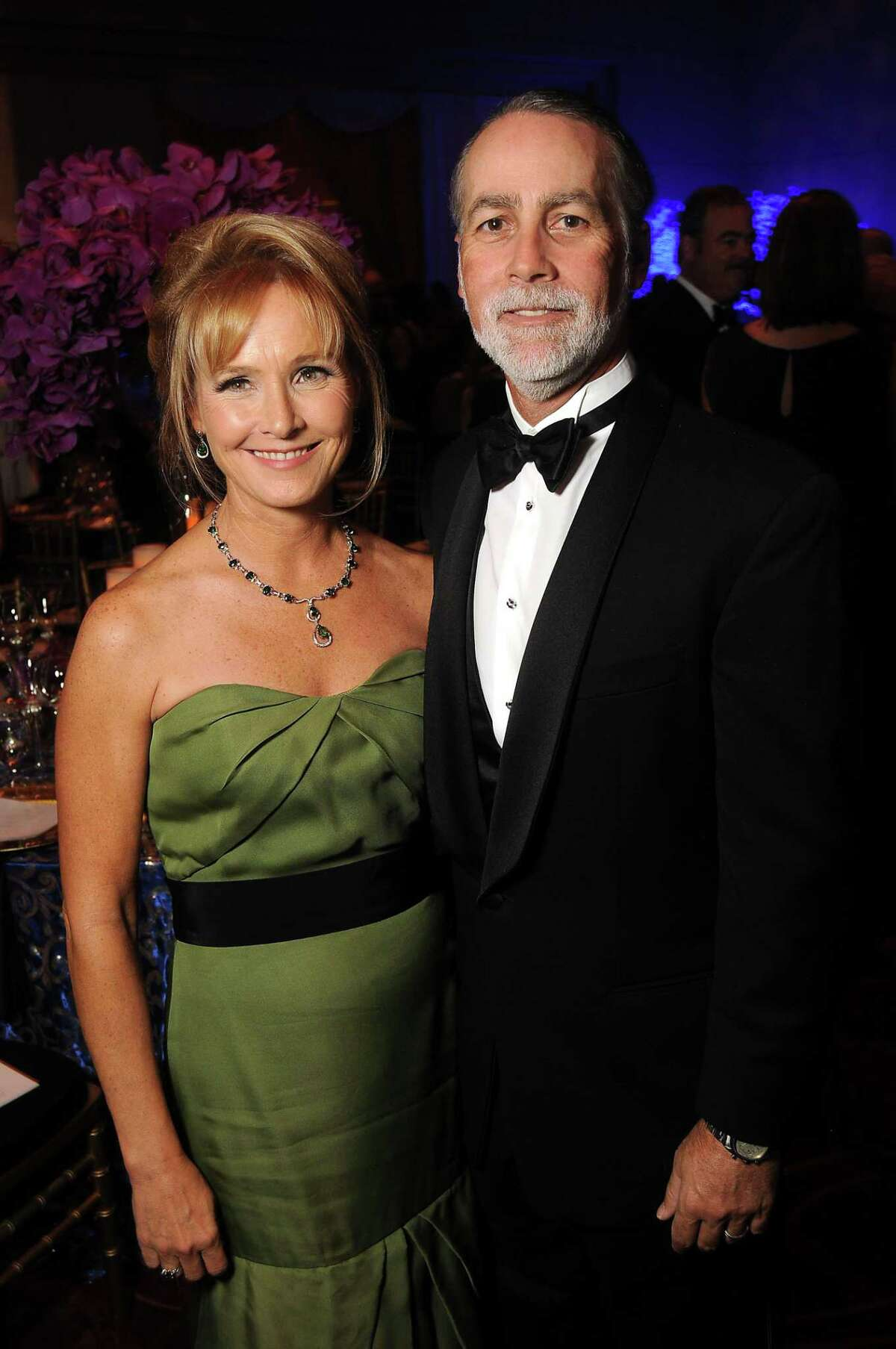 Randa and Charlie Williams at the Audrey Hepburn Society Ball at the Wortham Theater Tuesday Oct 14, 2014.(Dave Rossman photo)