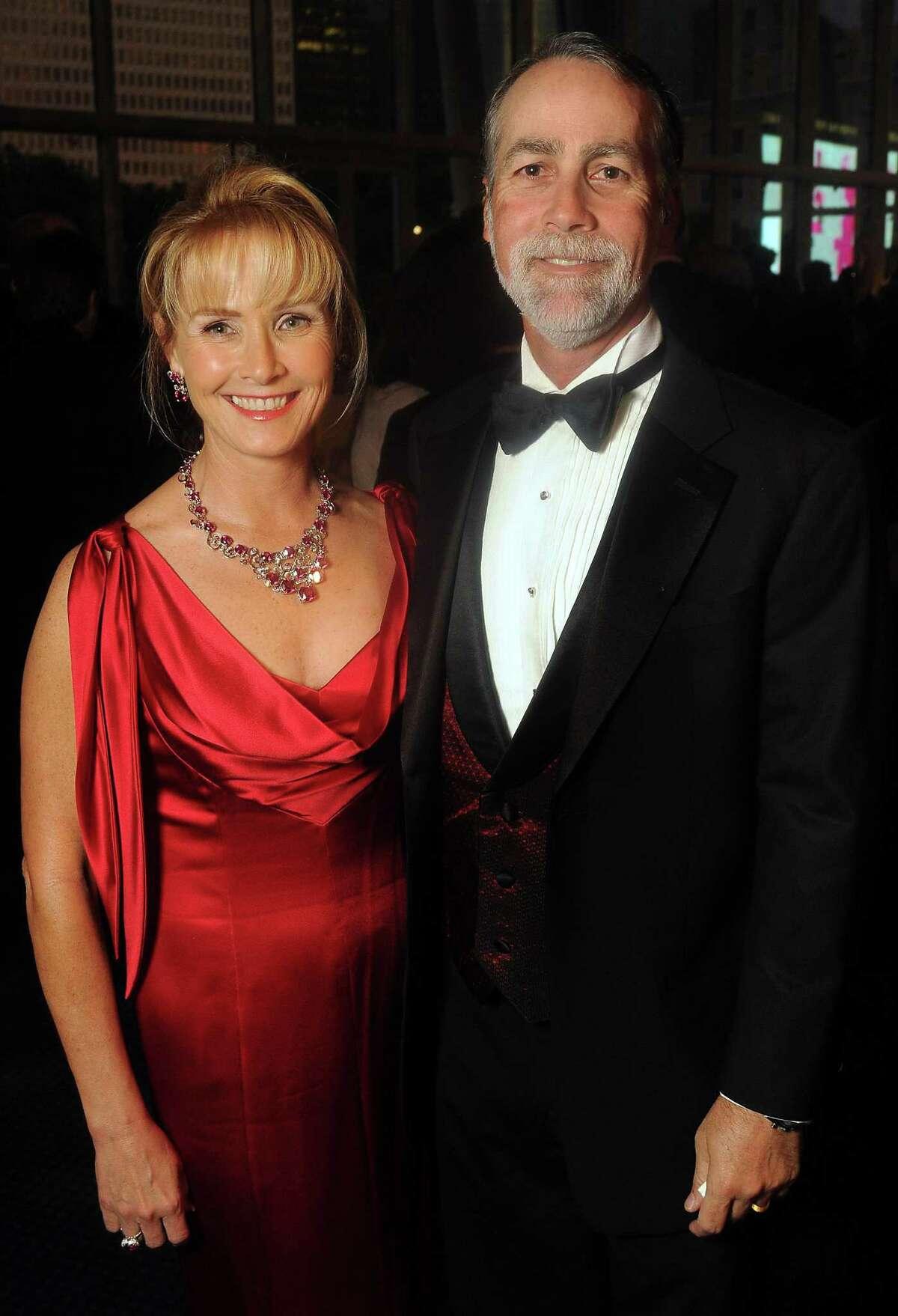 Randa Williams and her husband Charlie at the TUTS gala at the Hobby Center Friday April 20,2012. (Dave Rossman Photo)