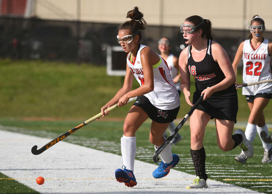 Junior Estelle Asker brings the ball upfield during a game at Dunning last year. — Dave Stewart photo