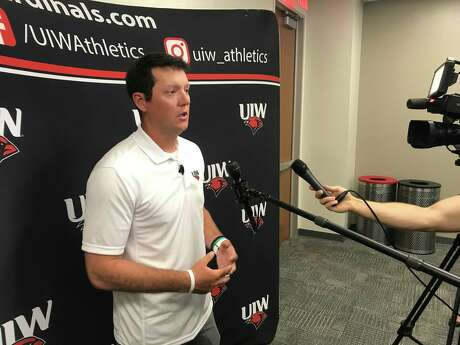 New Incarnate Word baseball coach Ryan Shotzberger speaks to the media after being introduced on Monday, June 24, 2019, at Incarnate Word in San Antonio.