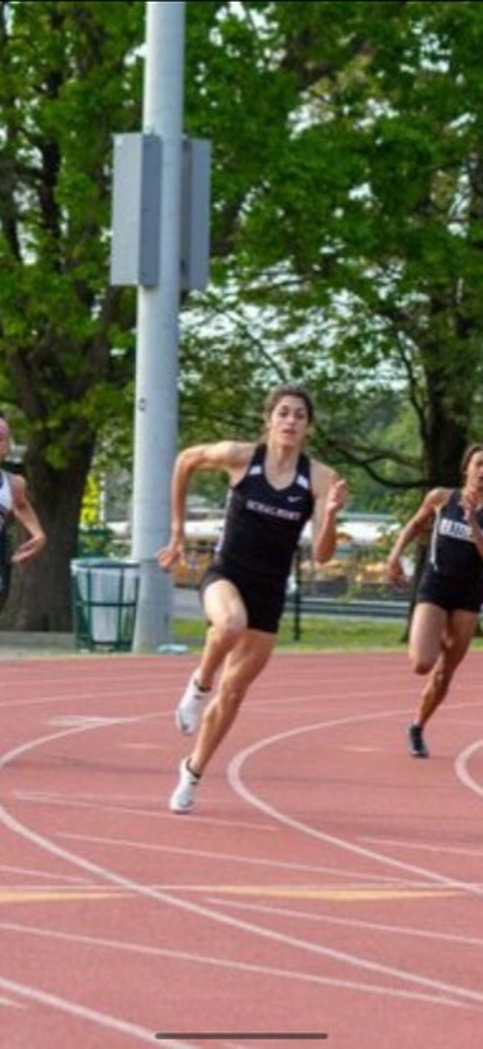 Schalmont runner Mia D'Ambrosio at the state qualifier meet. (Courtesy of Joe Hale)