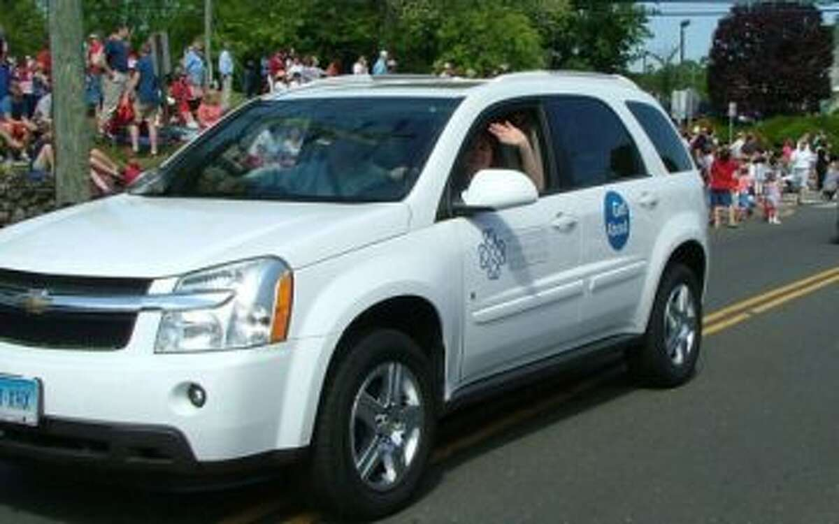 New Canaan: Longtime local resident, Scott Barnard, has joined the GetAbout board. Pictured is a GetAbout vehicle.