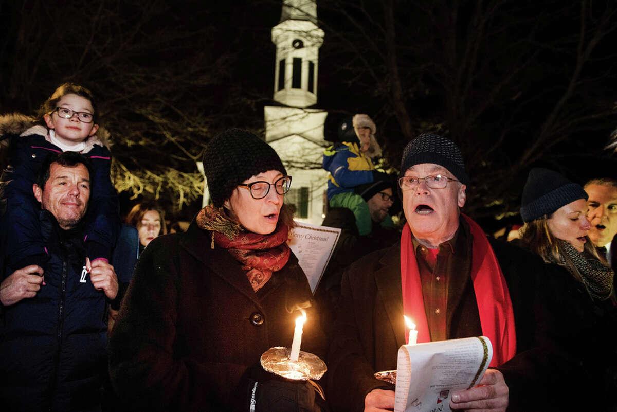Christmas Caroling on God's Acre, New Canaan