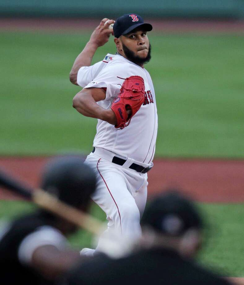 Boston Red Sox starting pitcher Eduardo Rodriguez delivers during the first inning of a baseball game against the Chicago White Sox at Fenway Park in Boston, Monday, June 24, 2019. (AP Photo/Charles Krupa) Photo: Charles Krupa / Copyright 2019 The Associated Press. All rights reserved.
