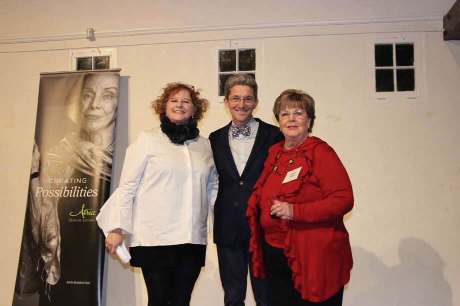 John Engel is this year's 'Realtor Citizen' for his service to the Town of New Canaan. The New Canaan Board of Realtors' Realtor Citizen of the Year is John Engel, center, with with board President Janis Hennessy, left, and realtor Jeanne Rozel.