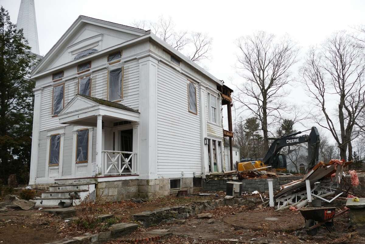 This is 4 Main Street after the side that was not antique was demolished. - Grace Duffield photo
