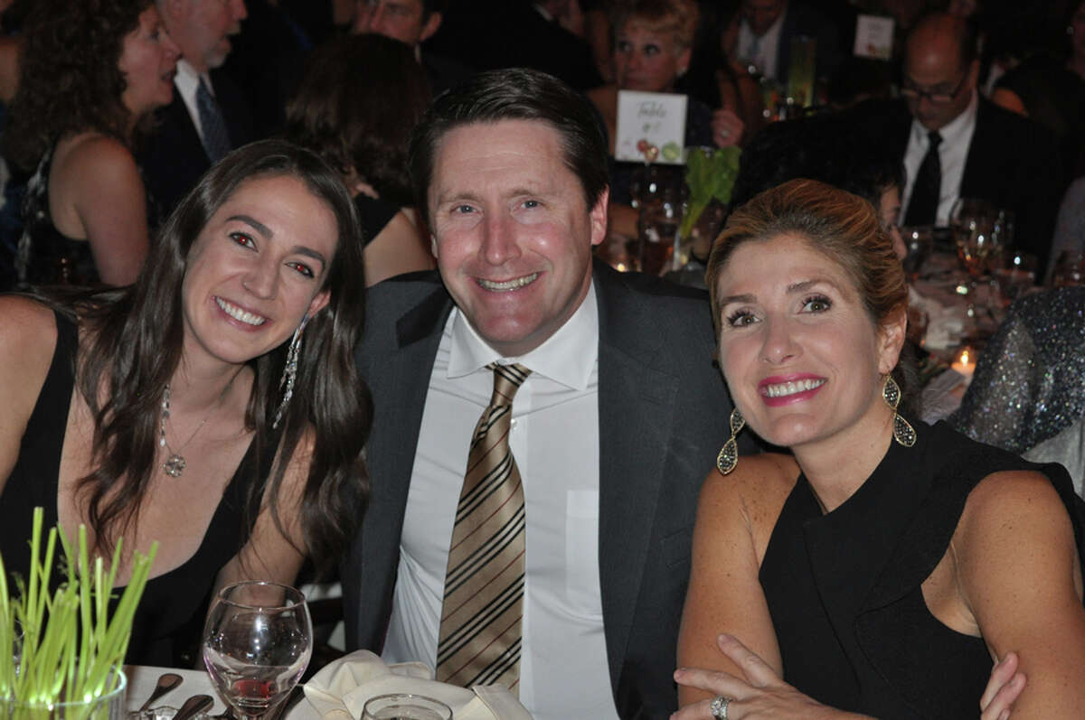 STAR Inc. recently held their gala to support people with disabilities. More than 300 guests attended the 17th Annual Fundraising Dinner and Auction Nov. 3 at Woodway Country Club in Darien, including, from left, Bridget O'Leary, Tom and Paige McInerney. - Contributed Photo