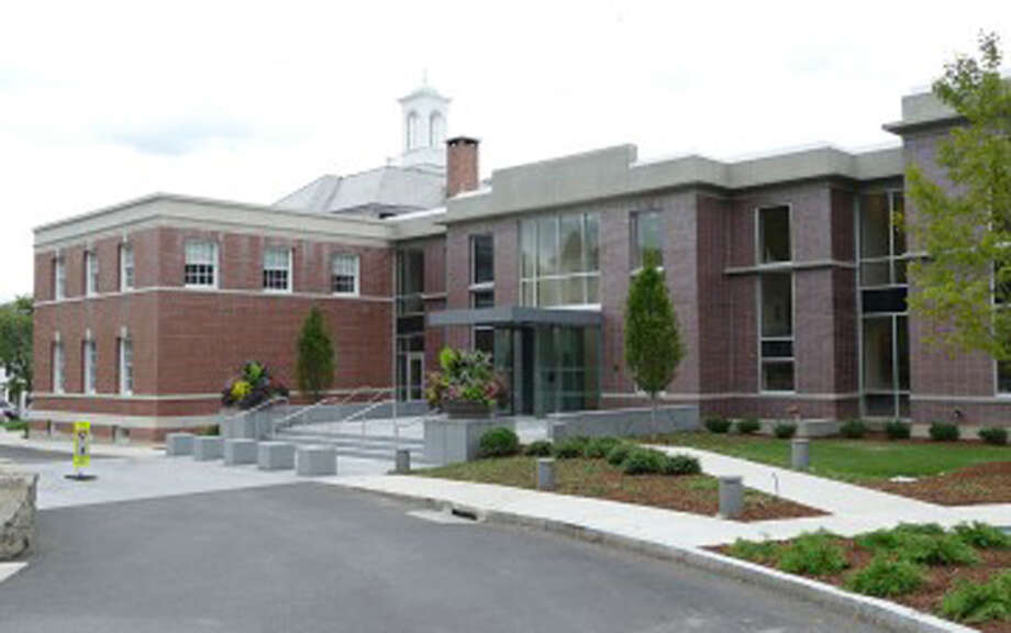 Two New Canaan Selectmen have quarreled via email. New Canaan Town Hall