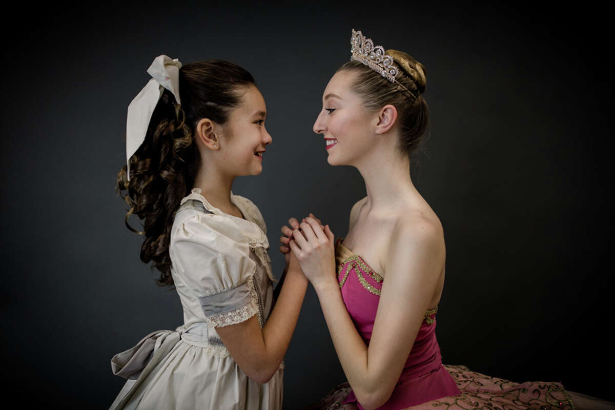 Elizabeth Cheng portrays Little Clara and Rose Engel is The Sugar Plum Fairy in New England Academy of Dance's production of The Nutcracker Ballet Dec. 7-9 at New Canaan High School. - Contributed photo