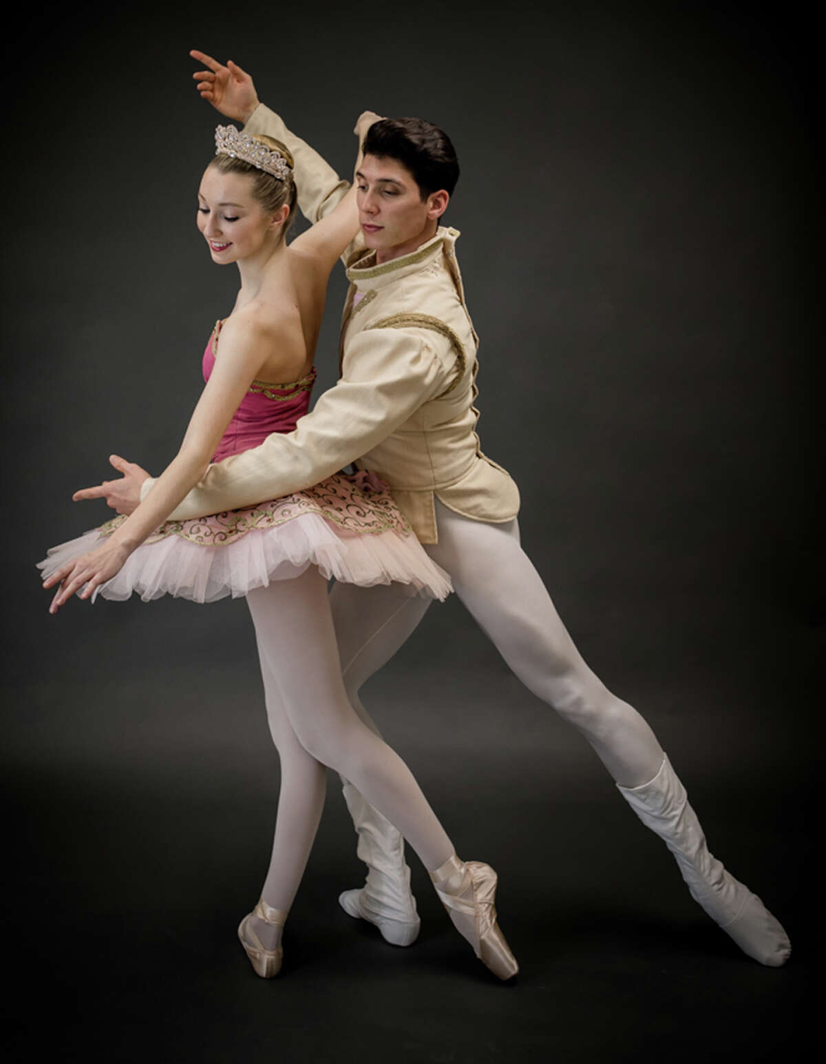 Rose Engel, as The Sugar Plum Fairy and Kenny Corrigan, as The Cavalier, dance in another photo of the two doing a another dance routine. - Contributed photo