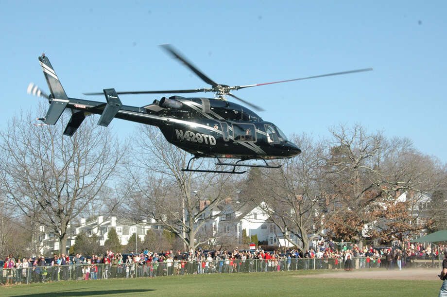 New Canaan: Santa will touch down by helicopter at Waveny Park this Saturday, Dec. 8, 2018.