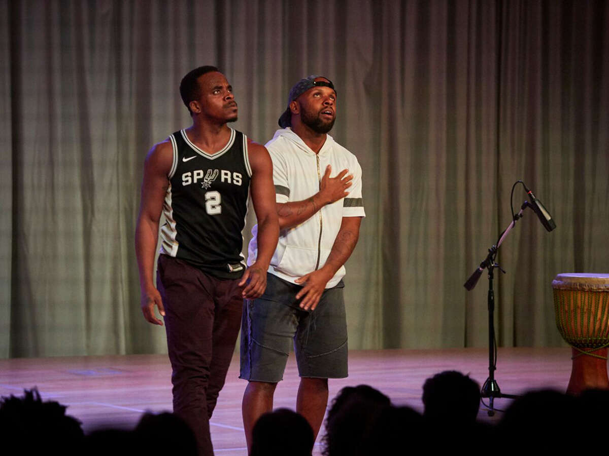 Maleek Washington and Timothy Edwards perform an excerpt from ink by Camille A. Brown Nov. 16 at Grace Farms. - Contributed photo