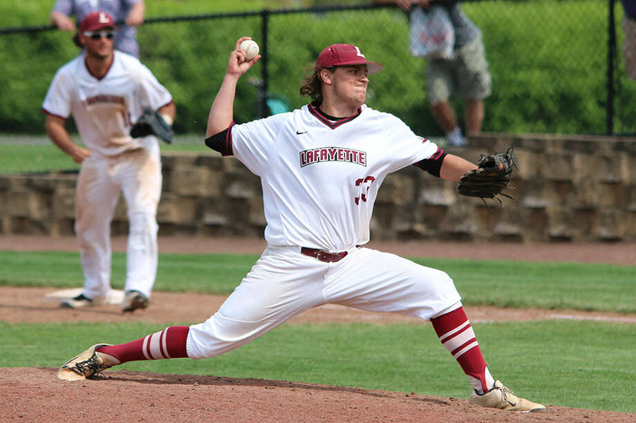 New Canaan's David Giusti of Lafayette College was recently named a captain of the Leopards' baseball team for his senior season. — Lafayette College Athletics photo