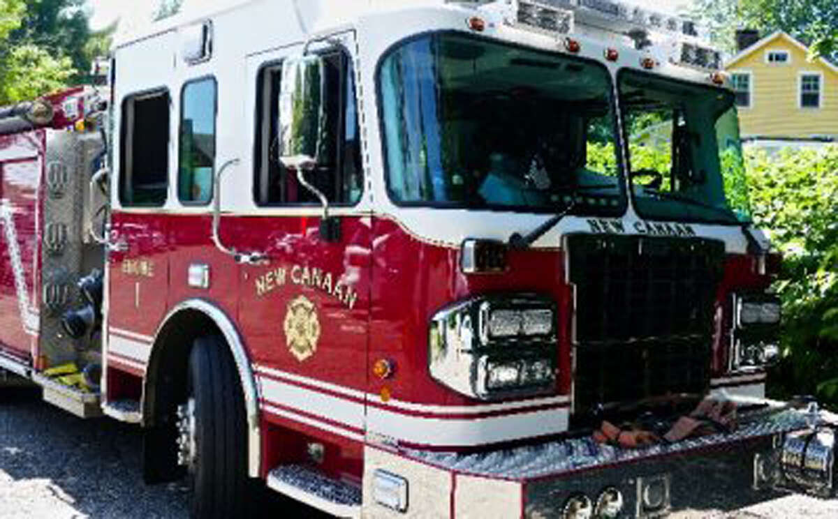New Canaan: A fire that started in the electrical meter panel of a home at 22 Old Stamford Road was quickly put out. - Contributed photo
