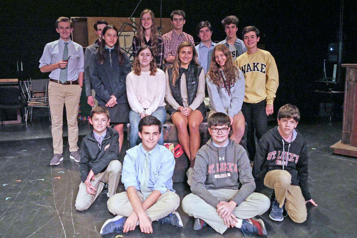 Cast and crew of The 39 Steps at St. Luke's School Nov. 9-10.- Contributed photo