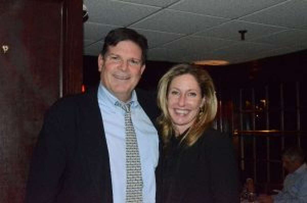 Rep. Tom O'Dea with his wife Kerry at a post election party at the Roger Sherman Inn Tuesday night. - Greg Reilly photo