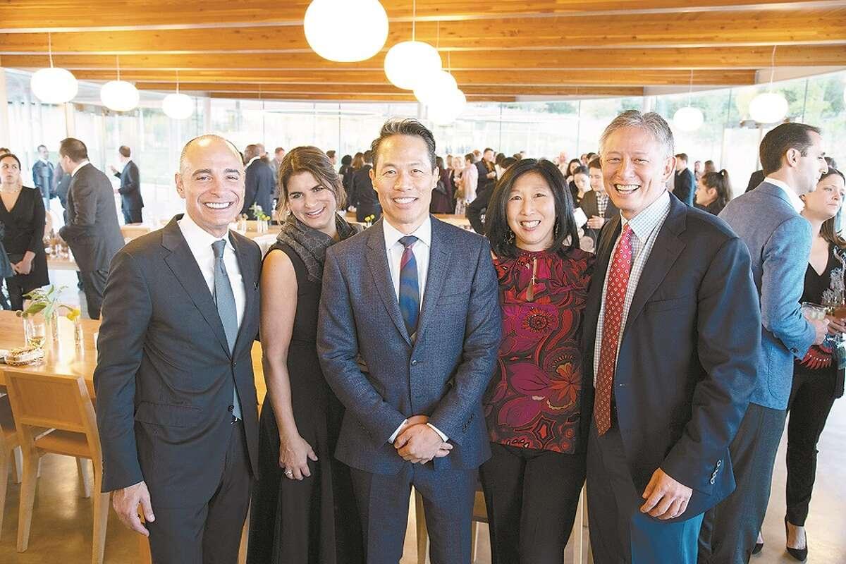 From left, Aris and Patti Kekedjian, Richard Liu, Jeannette Chen and Michael Chen.