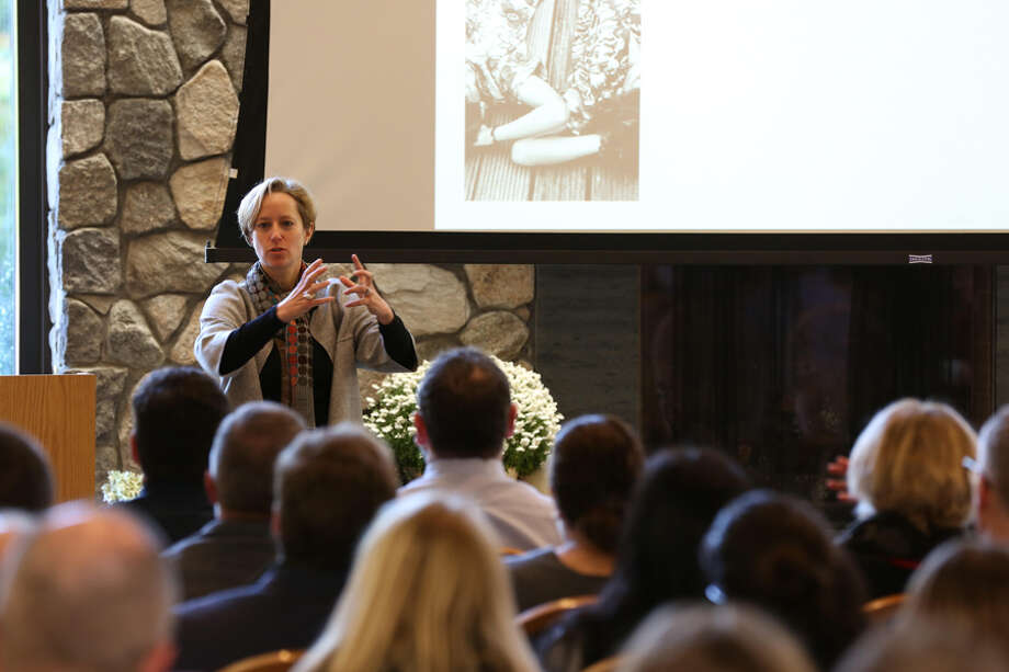 New Canaan: A psychologist once told students: imagine your 'worst day,' then cope. New Canaan: A psychologist once told students: imagine your 'worst day,' then cope. Lisa Damour speaks at St. Luke's Oct. 17. — Photo by Valerie Parker