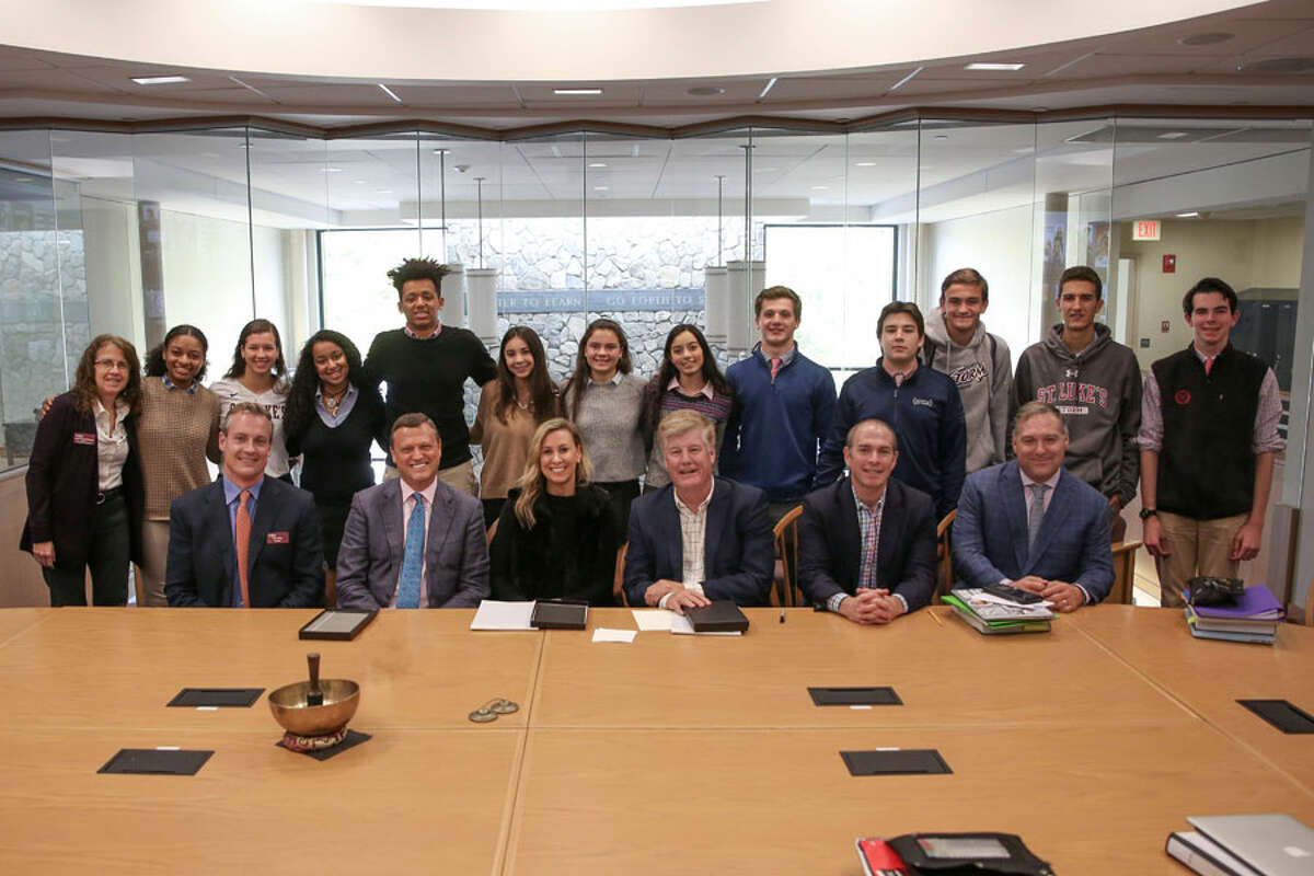 New Canaan: Students recently learned branding, and pitched to mentors in a