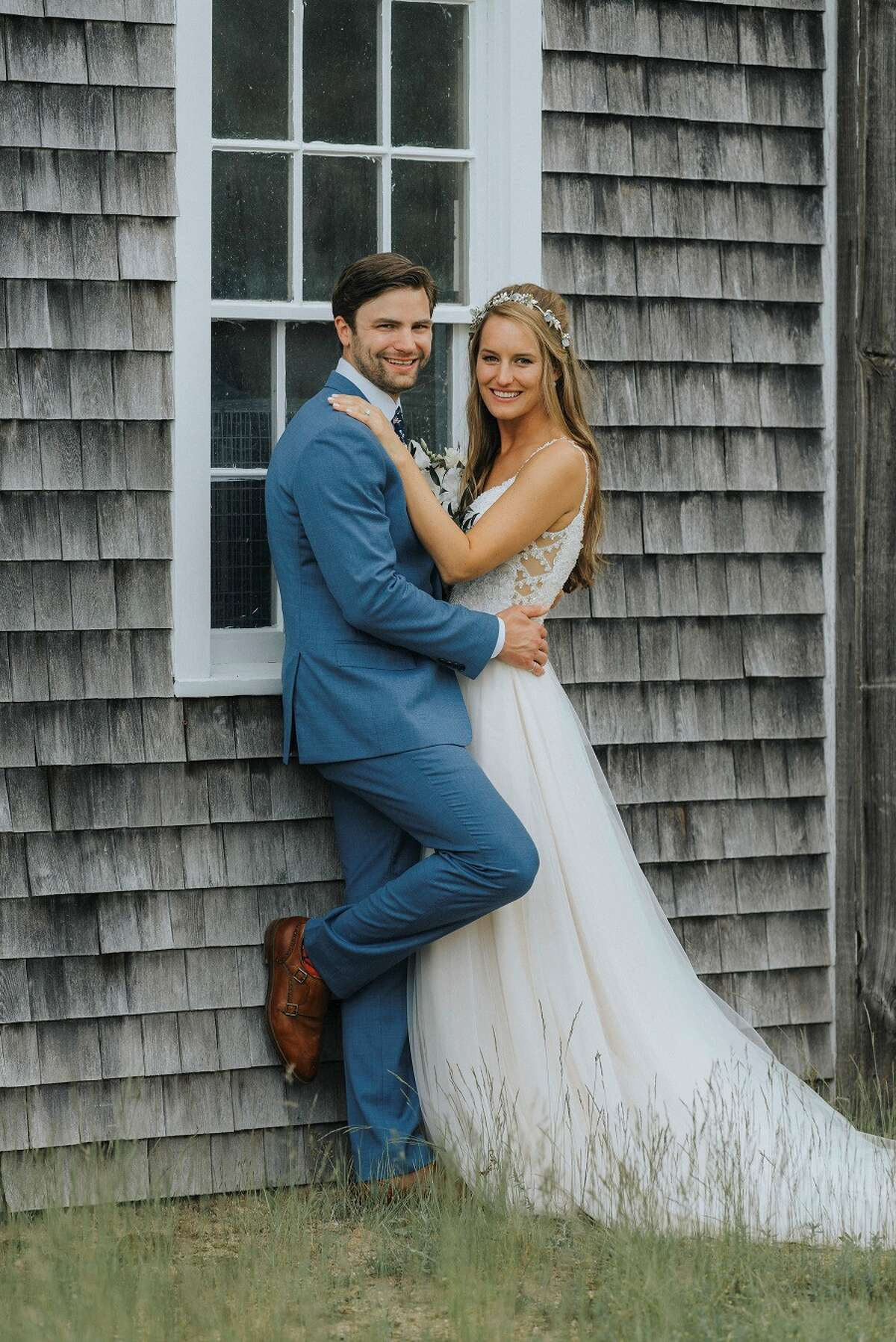 New Canaan: Brianna Ozimek recently wed Patrick Ready in Martha's Vineyard. Brianna Ozimek, Patrick Ready. - Photo by David Welch