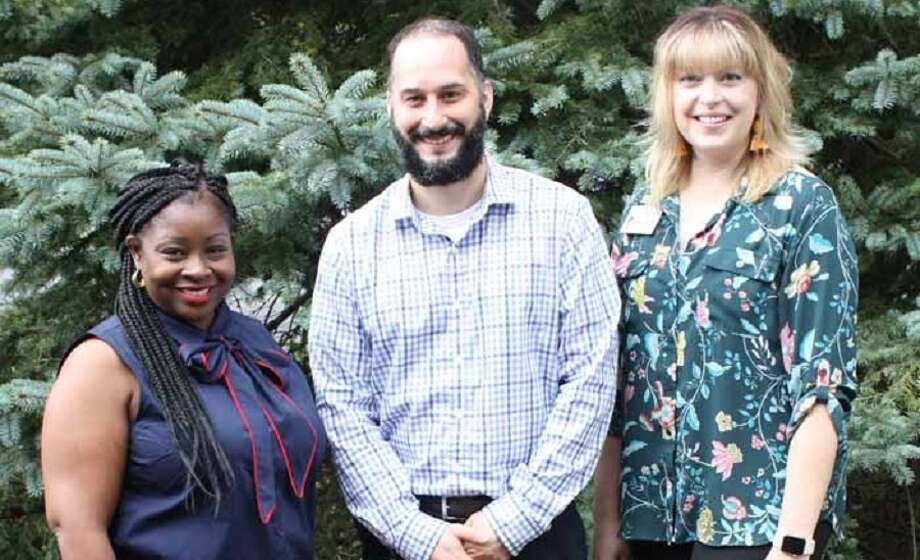 Three managers have been promoted at the Waveny LifeCare Network.  Waveny LifeCare Network has promoted three staff members to key director positions. From left, Latrina Annosier, a registered nurse; director of Resident Care at The Village; Tony DiIorio, director of Information Technology; and Carolyn Antonion, a social worker, director of Admissions Resident Services. — Contributed photo