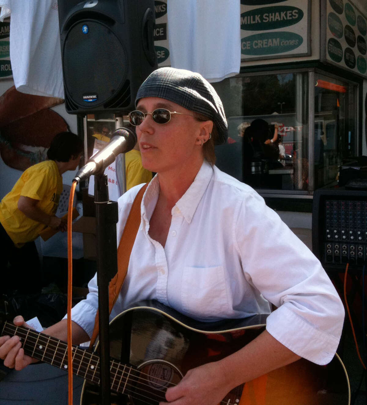 New Canaan native Lara Schuler has organized a benefit concert to support two programs for people in need in Redding. Pictured is Lara Schuler performing at an event. - Contributed photo