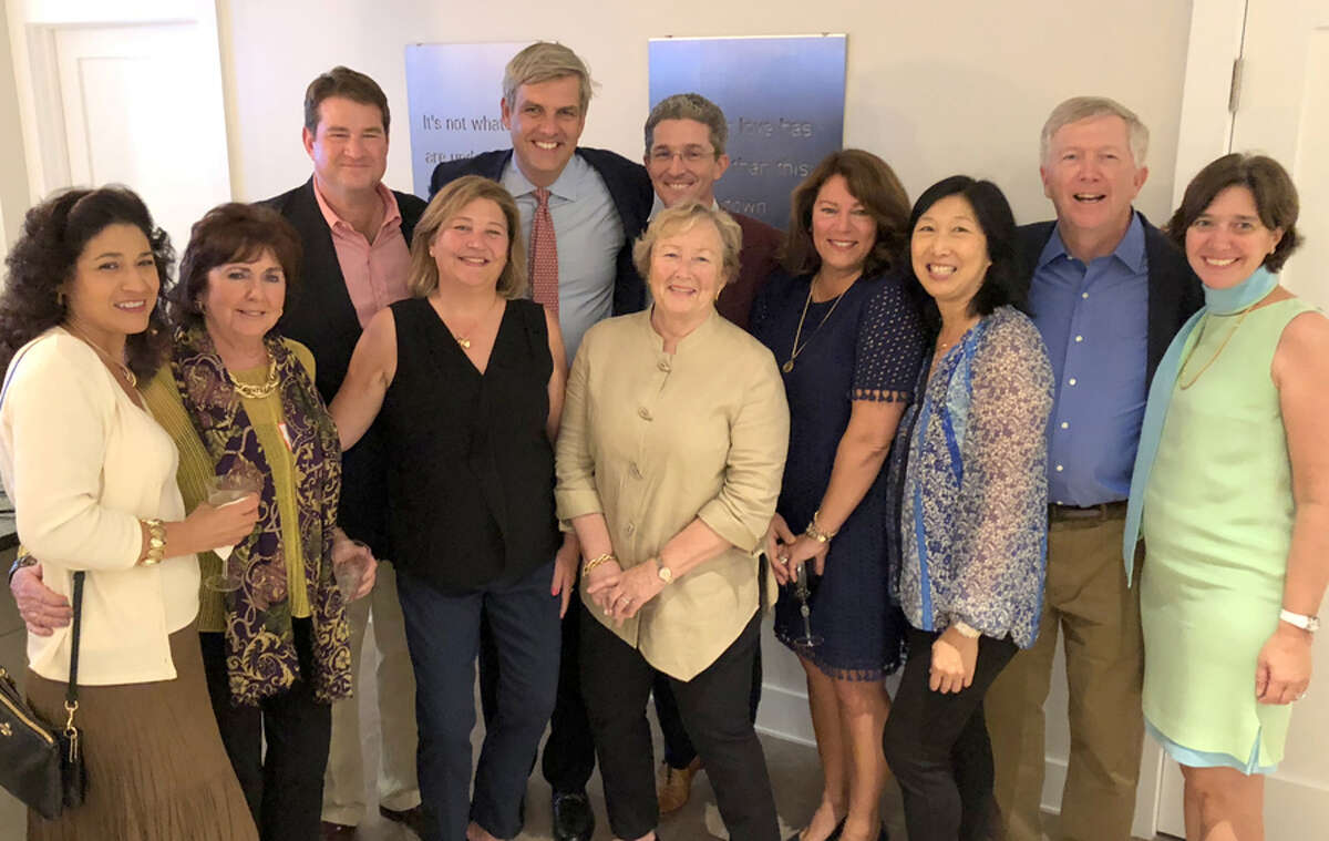 A reception honoring Bob Stefanowski, Republican candidate for governor, was held at the home of New Canaan residents Michael and Jeanette Chen on Sunday, Oct. 7. At the Chens' residence with Republican candidate for governor Bob Stefanowski on Oct. 7 were, from left, Margaret Carratu, Mim Moynihan, Pat Donovan, Tracey Karl, Stefanowski, John Engel, Penny Young, Jennifer Donovan, Jeanette Chen, and Lisa Platt.