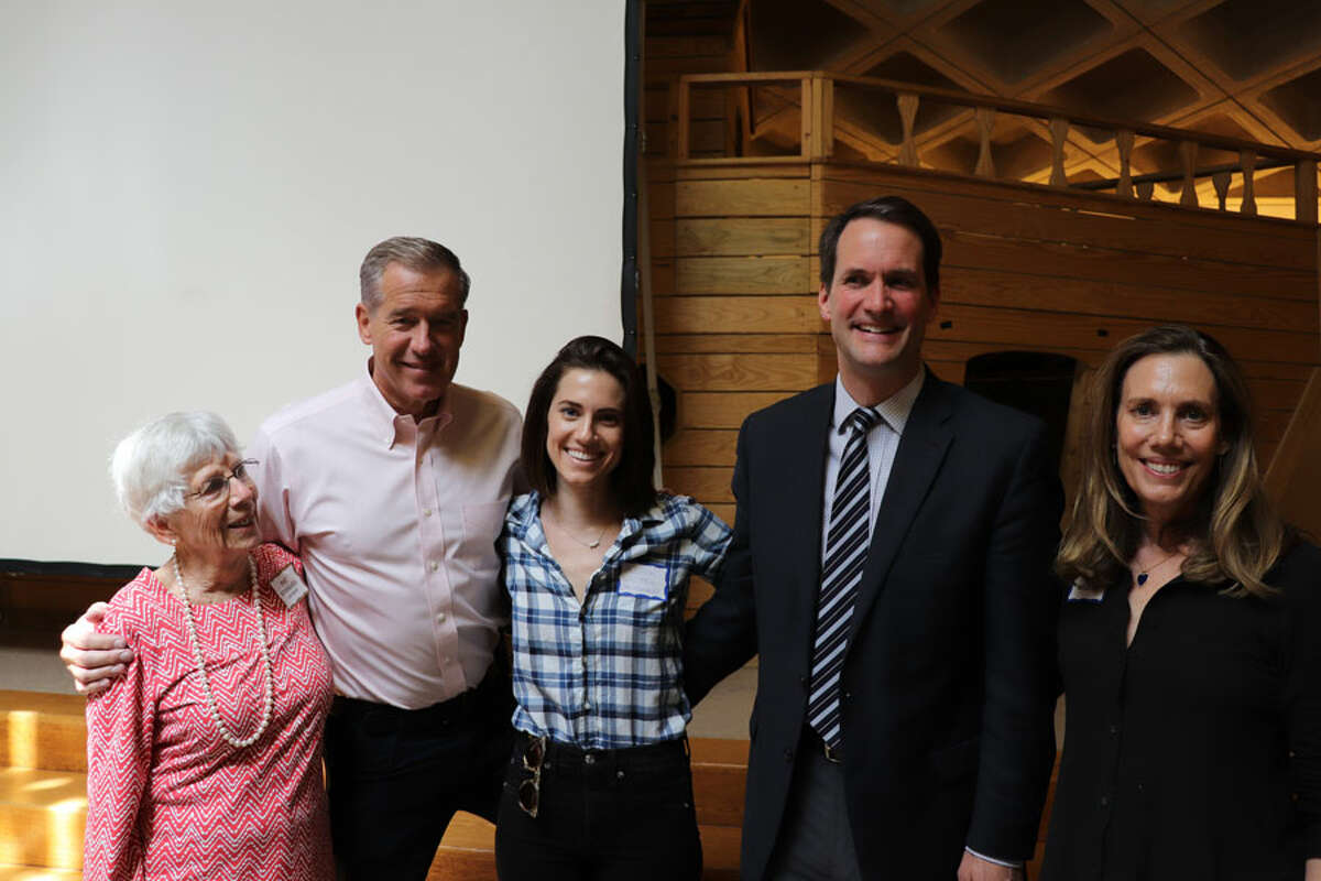 Staying Put in New Canaan has launched its 10 Annual Appeal. Three generations of New Canaanites celebrate Staying Put's 10th anniversary: Pat Stoddard, one of Staying Put's Founders, Brian Williams, Alison Williams, Congressman Jim Himes, and Jane Stoddard Williams.