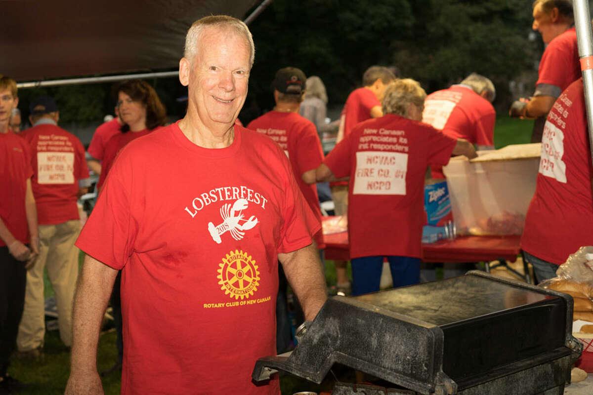 Mike Hobbs was among the sea of volunteers.