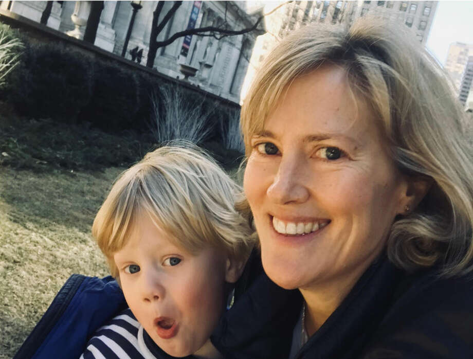 There are two clergy changes at St. Marks Episcopal Church in New Canaan. The Rev. Elizabeth Garnsey, here with her son Charlie, joins St. Mark's as associate rector. — Contributed photo