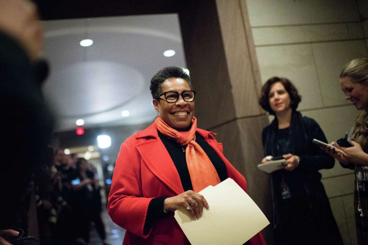 """Rep. Marcia Fudge, D-Ohio, pictured last year, criticized a retired Minnesota man last week for what she called a """"ridiculous millionaire stunt."""" The man, who says he has a net worth of more than $1 million, applied for food stamps and received them."""