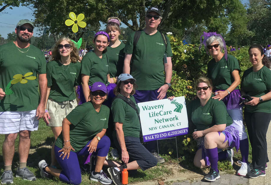 New Canaan recently walked to end Alzheimers. Waveny LifeCare Network's 2018 Walk to End Alzheimer's team, the Waveny Trekkers, raised essential funds for the Alzheimer's Association that will be used for care and support services for people with Alzheimer's disease. — Contributed photo