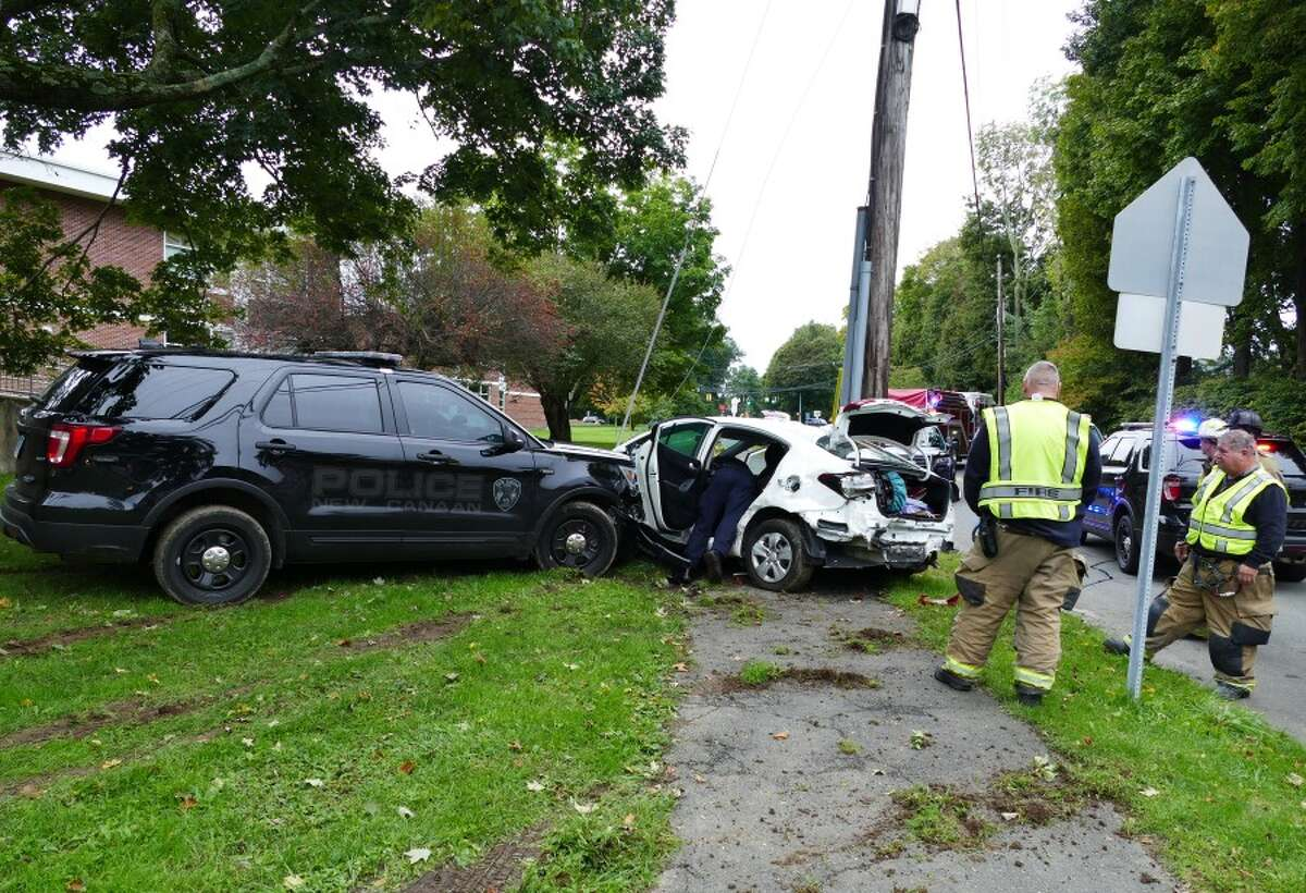 Crash on Saxe MIddle School side lawn. - Grace Duffield photo