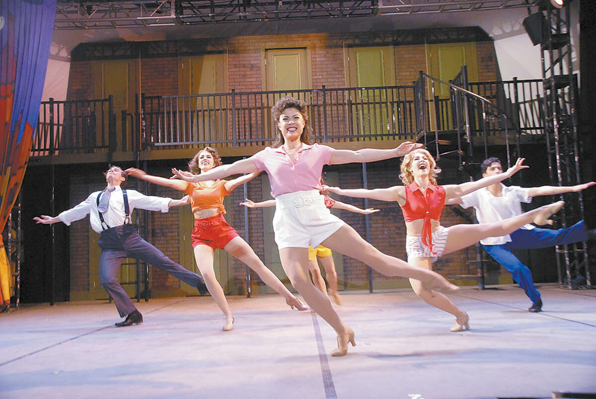 The Summer Theatre of New Canaan has wrapped up its 15th award-winning season. Kiss Me Kate performance with dancers; ensemble cast member Nikki Crocker, center, as Kate.