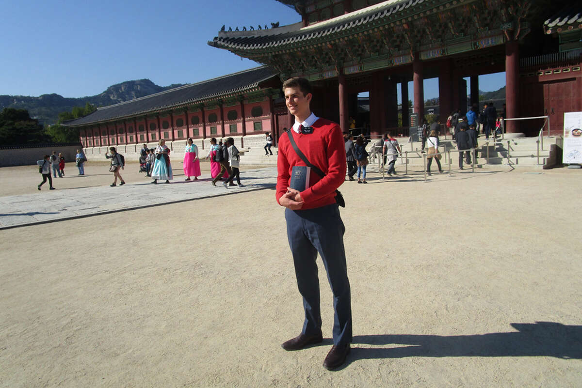 Sam Larson, a New Canaan High School 2016 graduate, has returned from serving a two-year mission for The Church of Jesus Christ of Latter-day Saints in South Korea. A New Canaan High School grad from 2016 is back from a mission in South Korea.