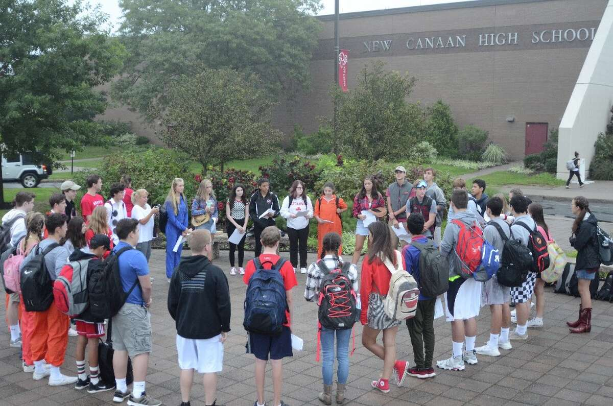 As the circle was building leaders got their fellow students organized. - Greg Reilly photo