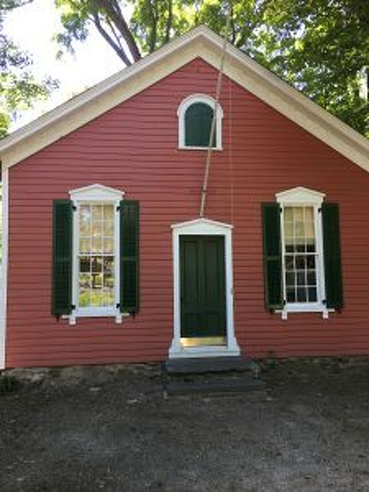 The Little Red Schoolhouse on Carter Street in New Canaan is going to open for tours. Little Red Schoolhouse