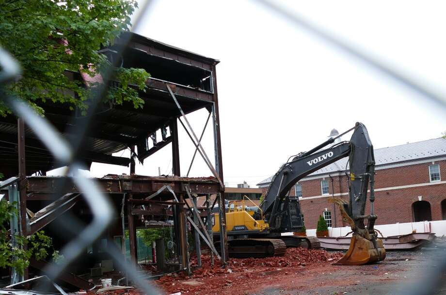 Demolition on Forest Street to make way for mixed use. — Grace Duffield photo