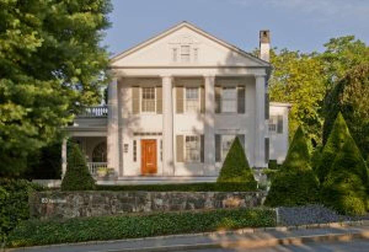 The front, Greek Revival section of the Bergmann's house on Park Street, next door to God's Acre. - Richard Bergmann photo