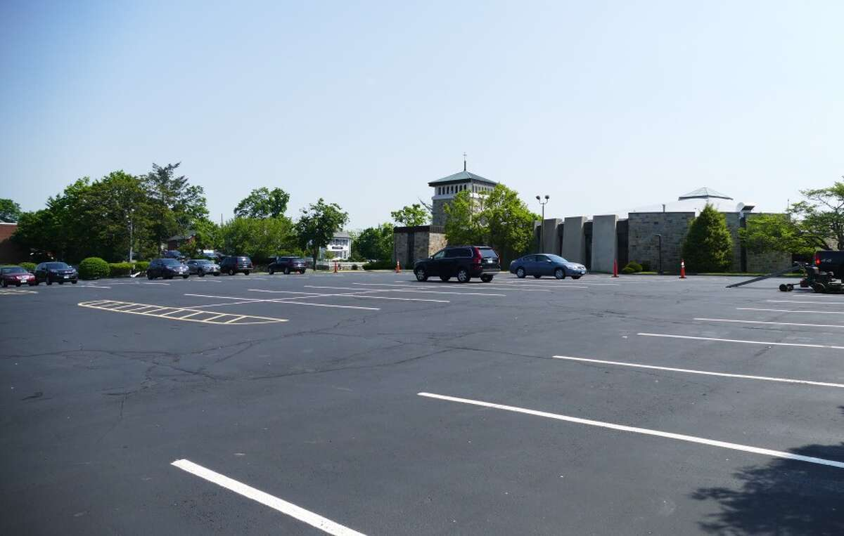 Sixty of these parking spaces at St. Aloysius Church will be available for commuter parking. - Grace Duffield photo