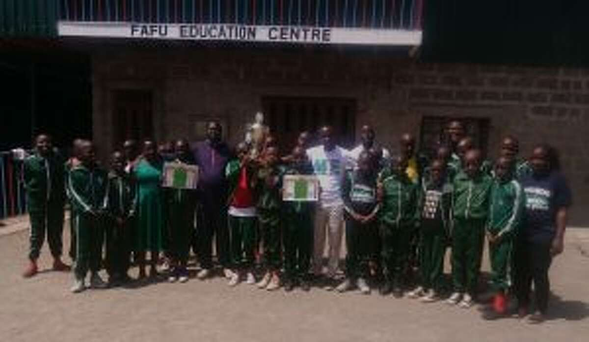 The New Canaan YMCA's education partner, Children from the Facing the Future Education- FAFU Centre, are winners of a recent music festival. Children of Facing the Future Education in Kenya are shown at the music festival. - Contributed photo