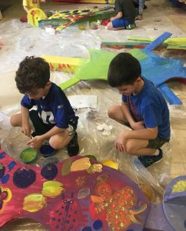 The Silvermine Arts Center's Art Partners Outreach Education Program has received a grant from the William Randolph Hearst Foundation. Norwalk students participate in a Silvermine Art Partners project. — Contributed photo