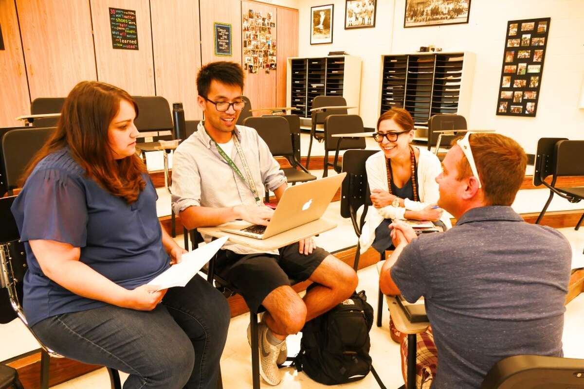 Teachers of visual and performing arts reviewed their mission statement. - Grace Duffield photo