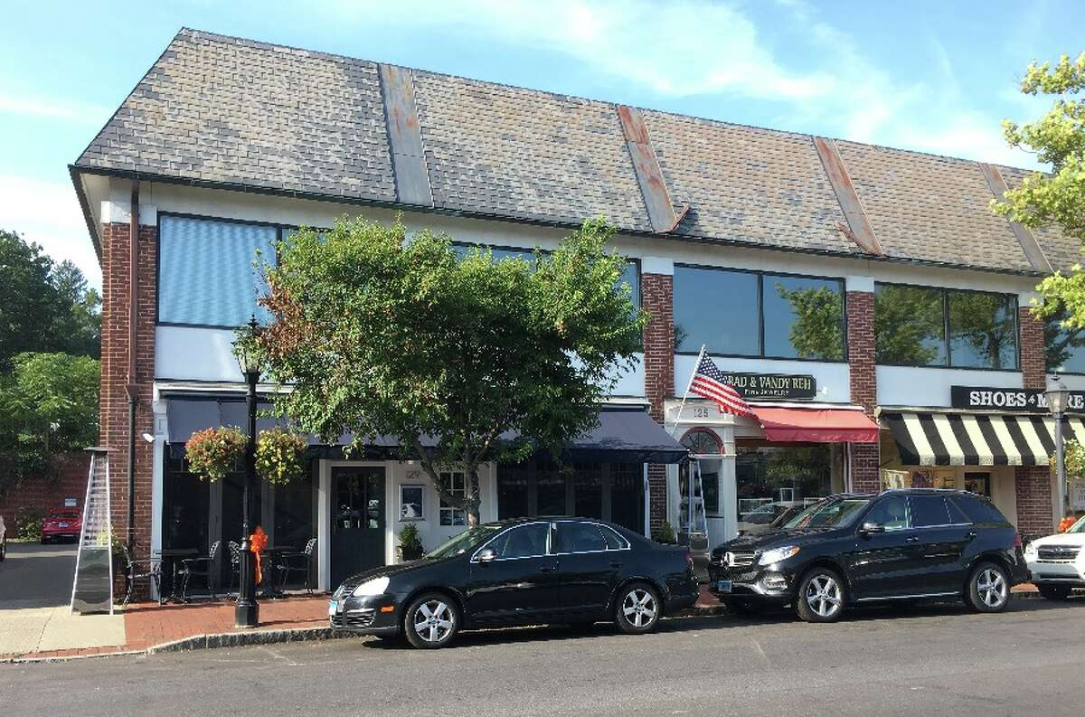 Baldanza's new location in New Canaan will be at the blue awning, left of the American flag and across the street from Francos Wine Merchants. - Greg Reilly