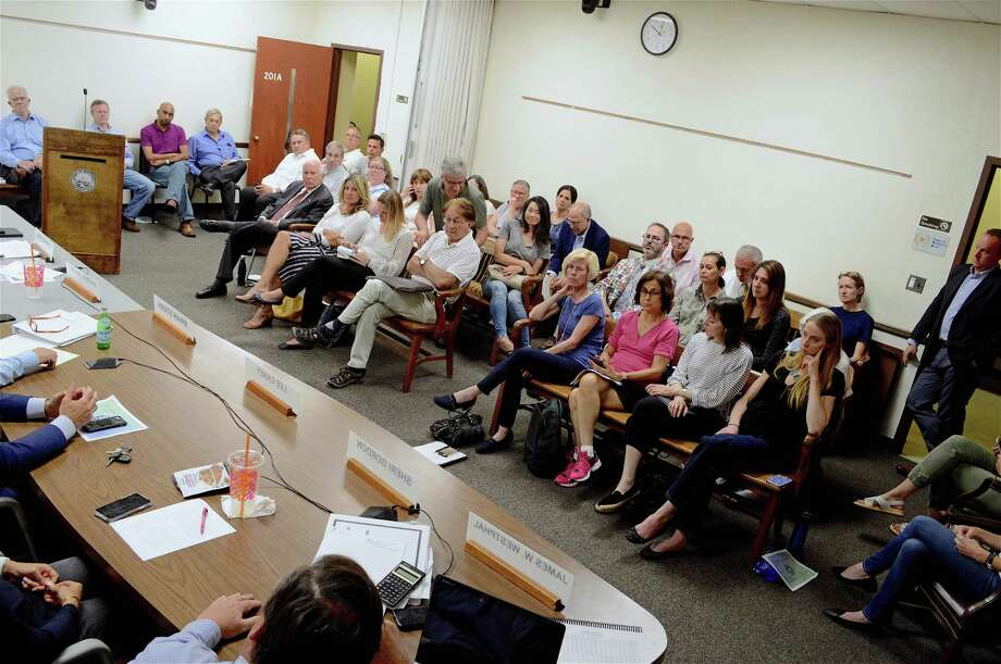 It was a full house at Monday night's Board of Finance meeting, June 24, 2019, in Westport, Conn. Photo: Jarret Liotta / For Hearst Connecticut Media / Westport News Freelance